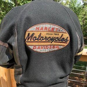Harley Davidson Women's Small Leather/Wool Jacket